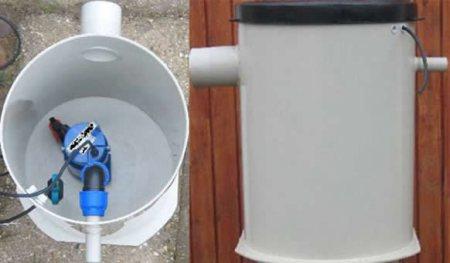 Szennyvízátemelő tartály 500x650 mm